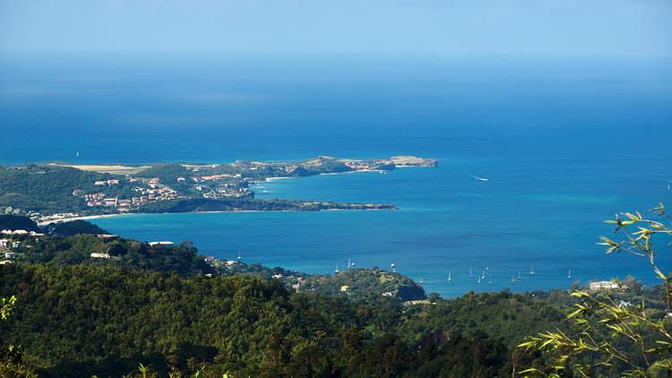 View over St George's, Grenada