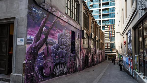48 hours in Melbourne, A&K, Street art on ACDC Lane